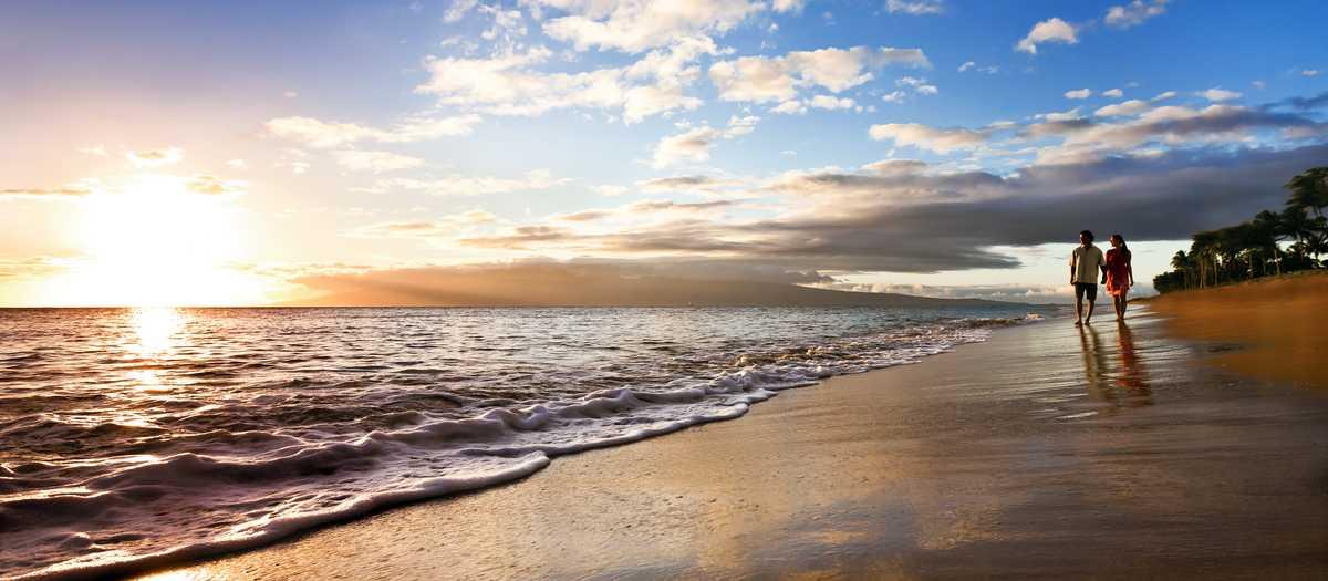 Maui, Kaanapali Beach, Paar