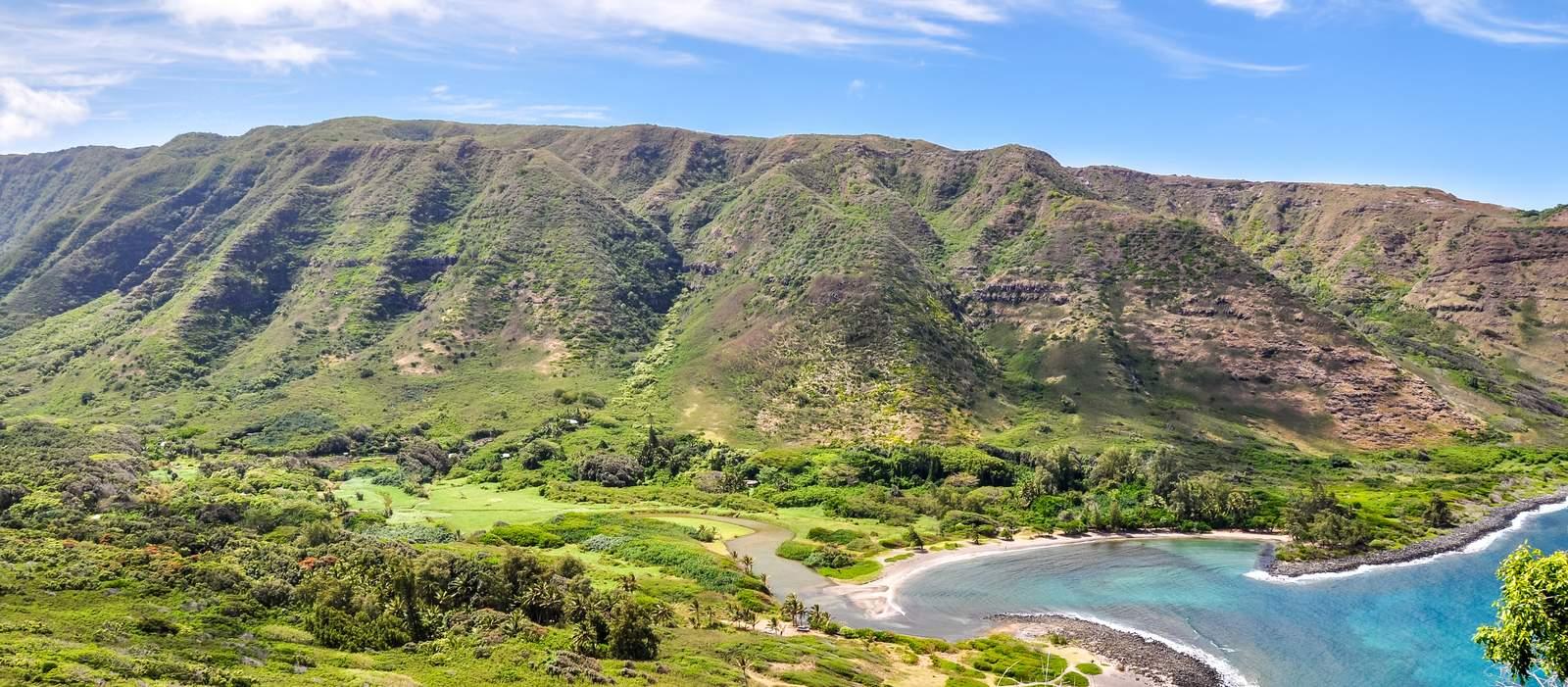 Beeindruckender Ausblick über die Küste Molokais