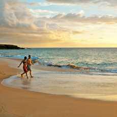 Paar am Papohaku Beach