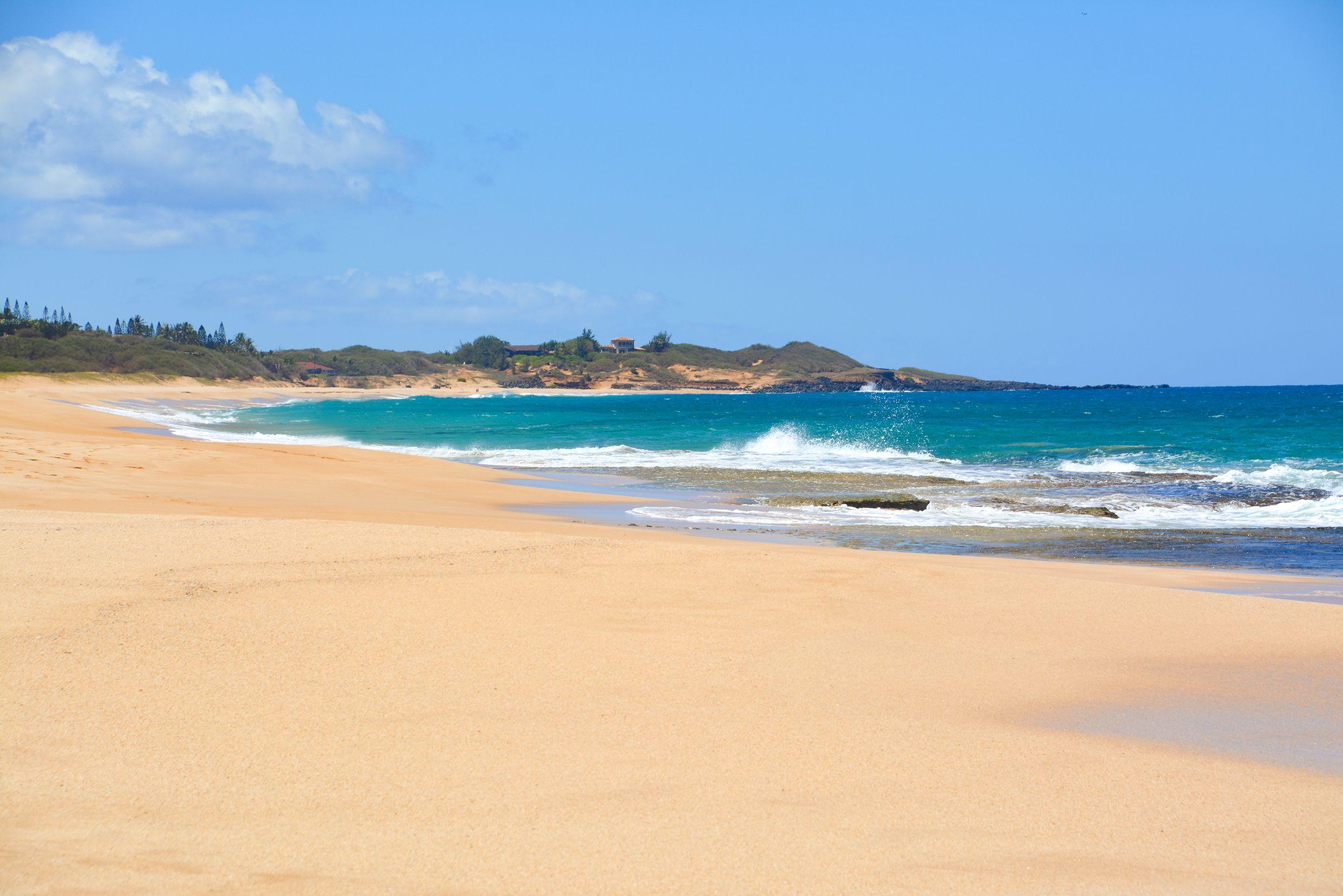 Am Papohaku Beach auf der Insel Molokai, Hawaii