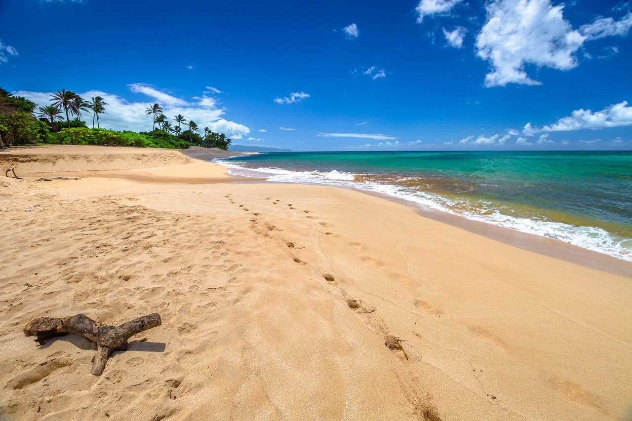 Langer Strand von Sunset Beach