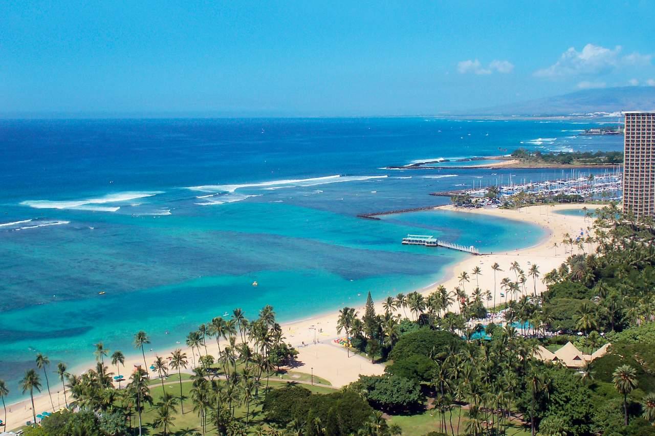 Blick auf Waikiki Beach, Oahu