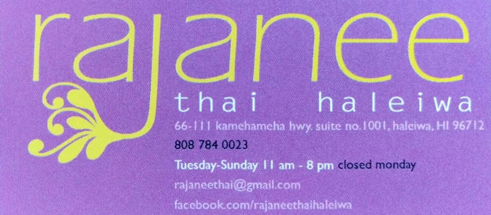 Rajanee Thai auf Haleiwa