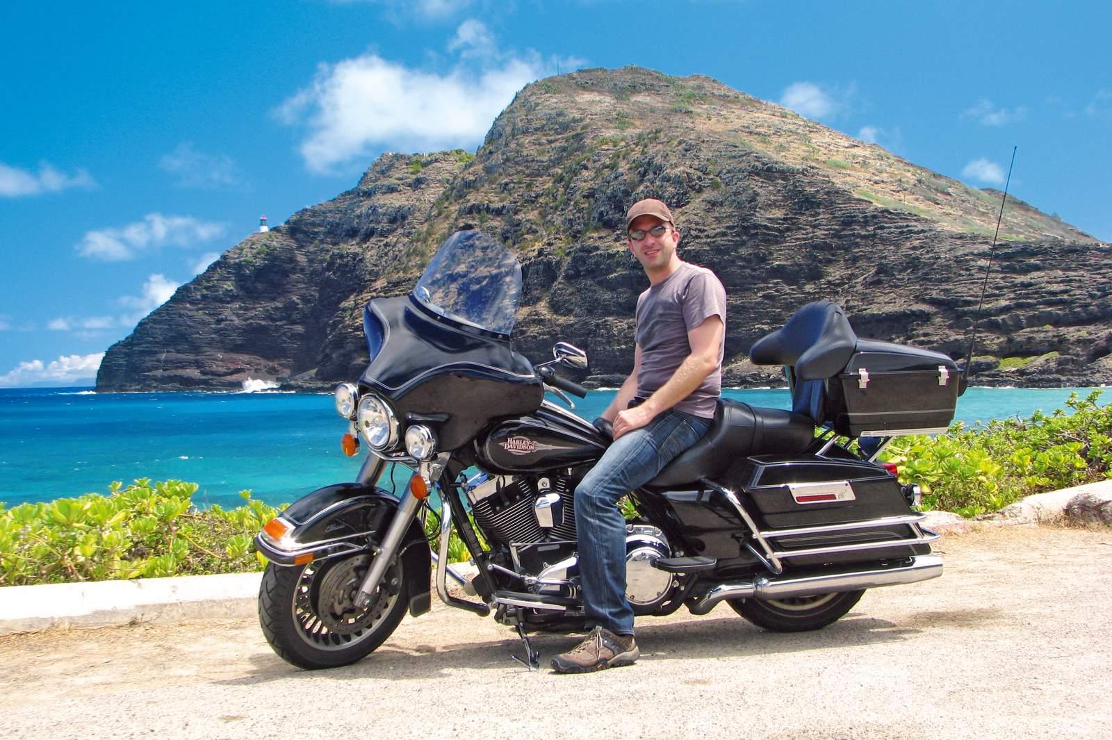 Mit dem Motorrad Oahu entdecken