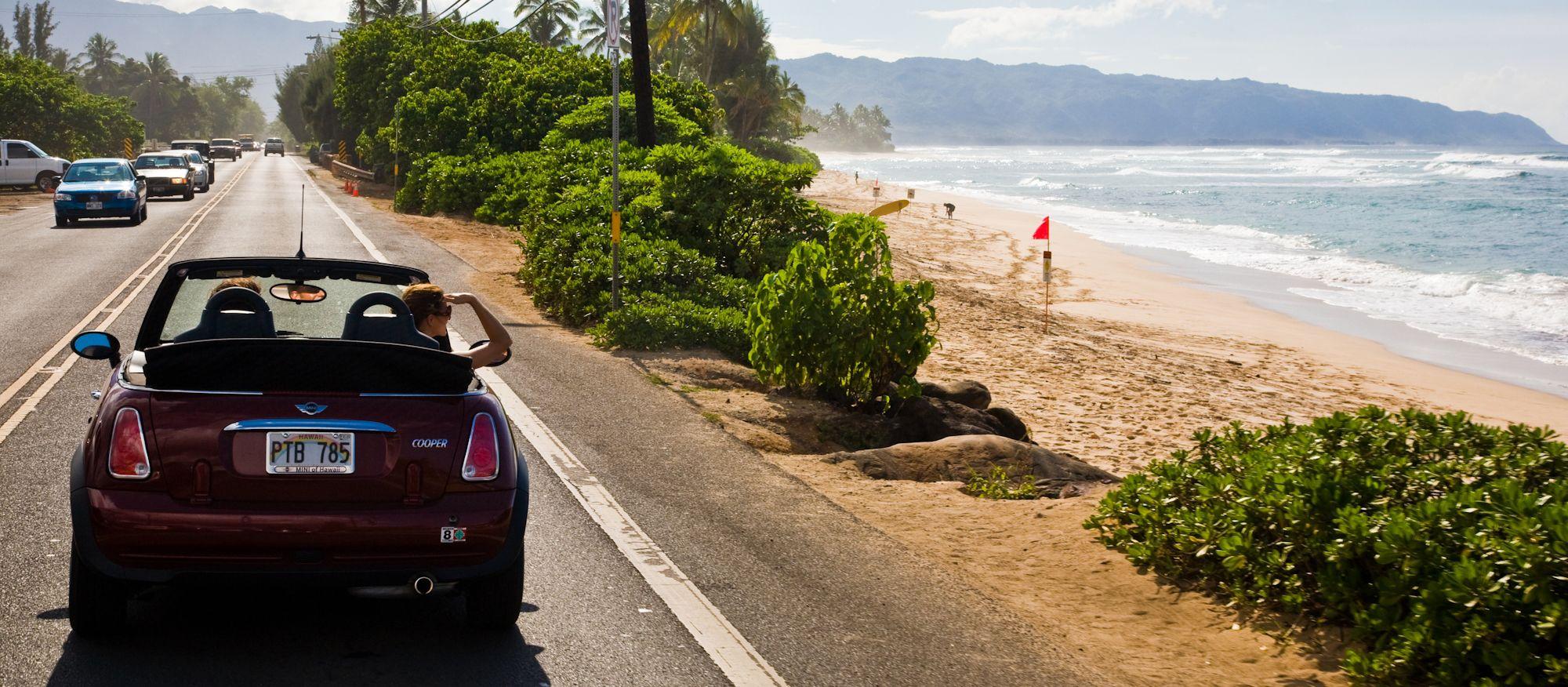 Autofahrt an der North Shore, Oahu