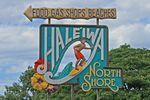 Das Haleiwa Surfer Schild auf Oahu, Hawaii