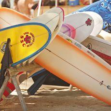 Surfbretter in Waikiki