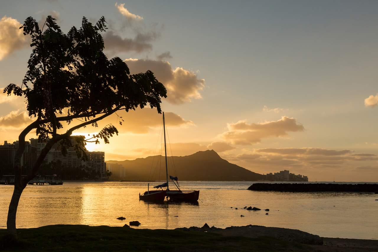 Der Diamond Head im Licht der Morgensonne