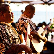 Gitarren-Duett in Waikiki, Oahu