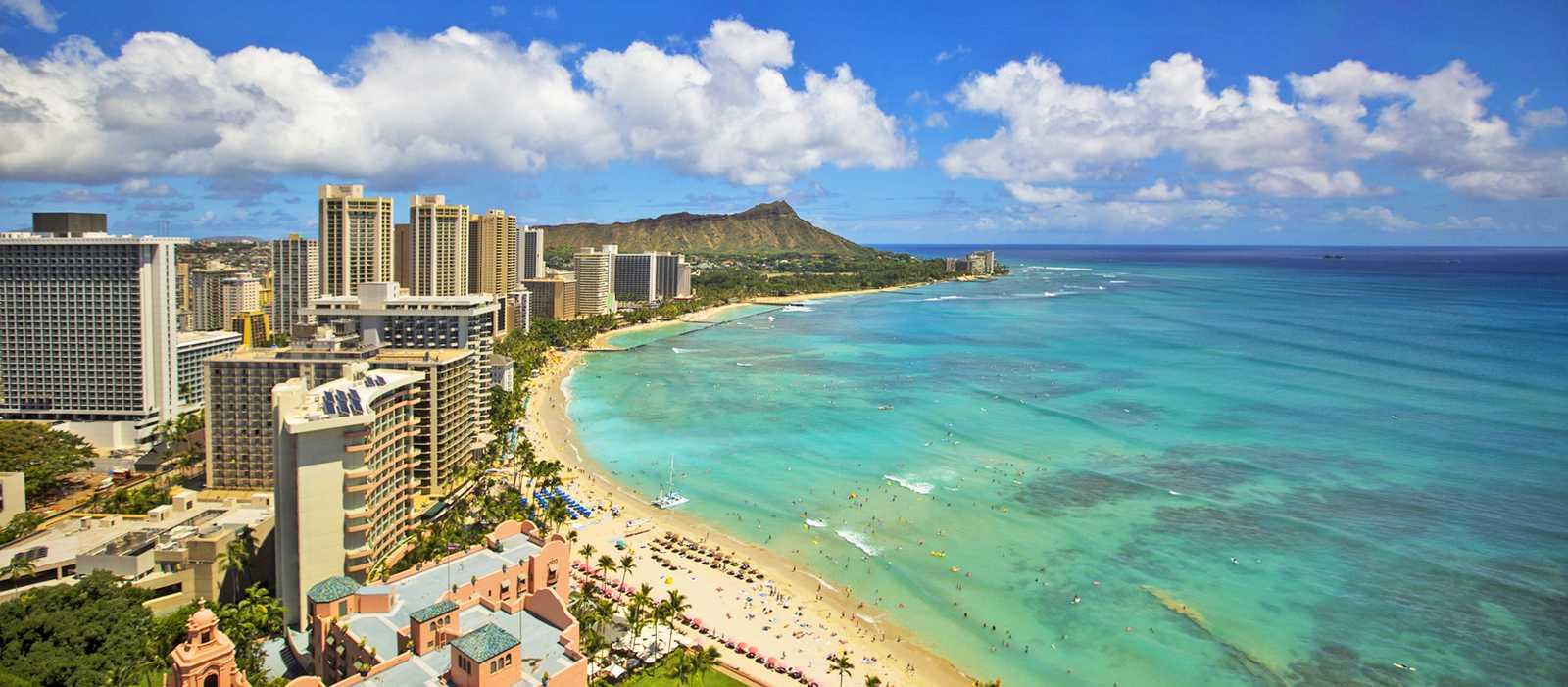 Waikiki von Oben, Oahu