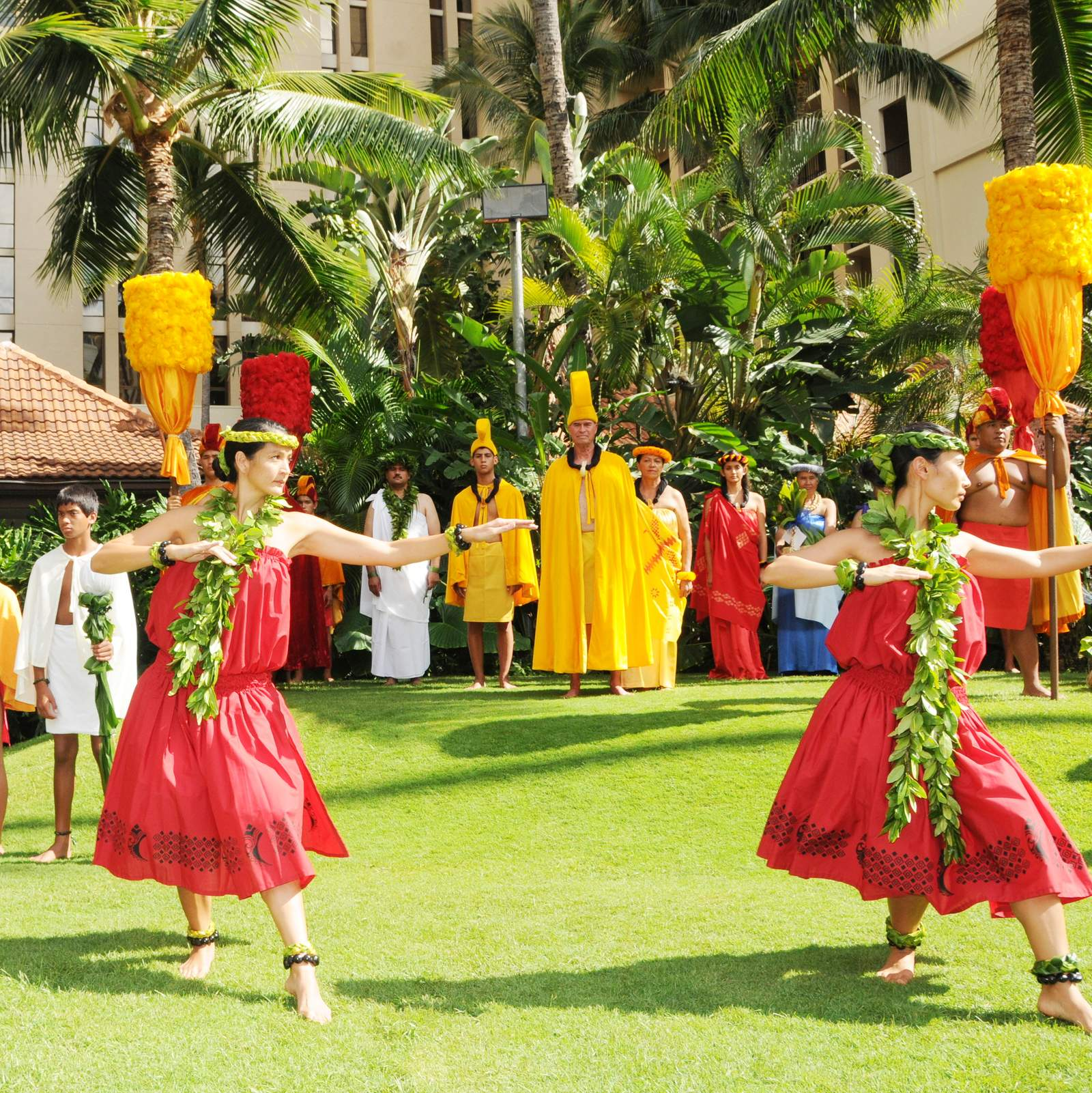 Tänzerinnen beim Aloha Festival