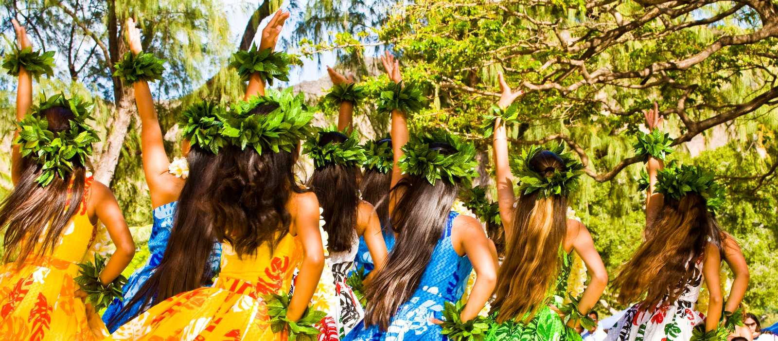 Hula tanzen am Lei day festival