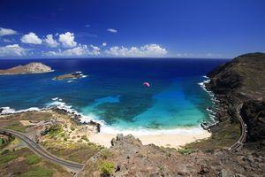 Die Makapuu Bucht auf Oahu