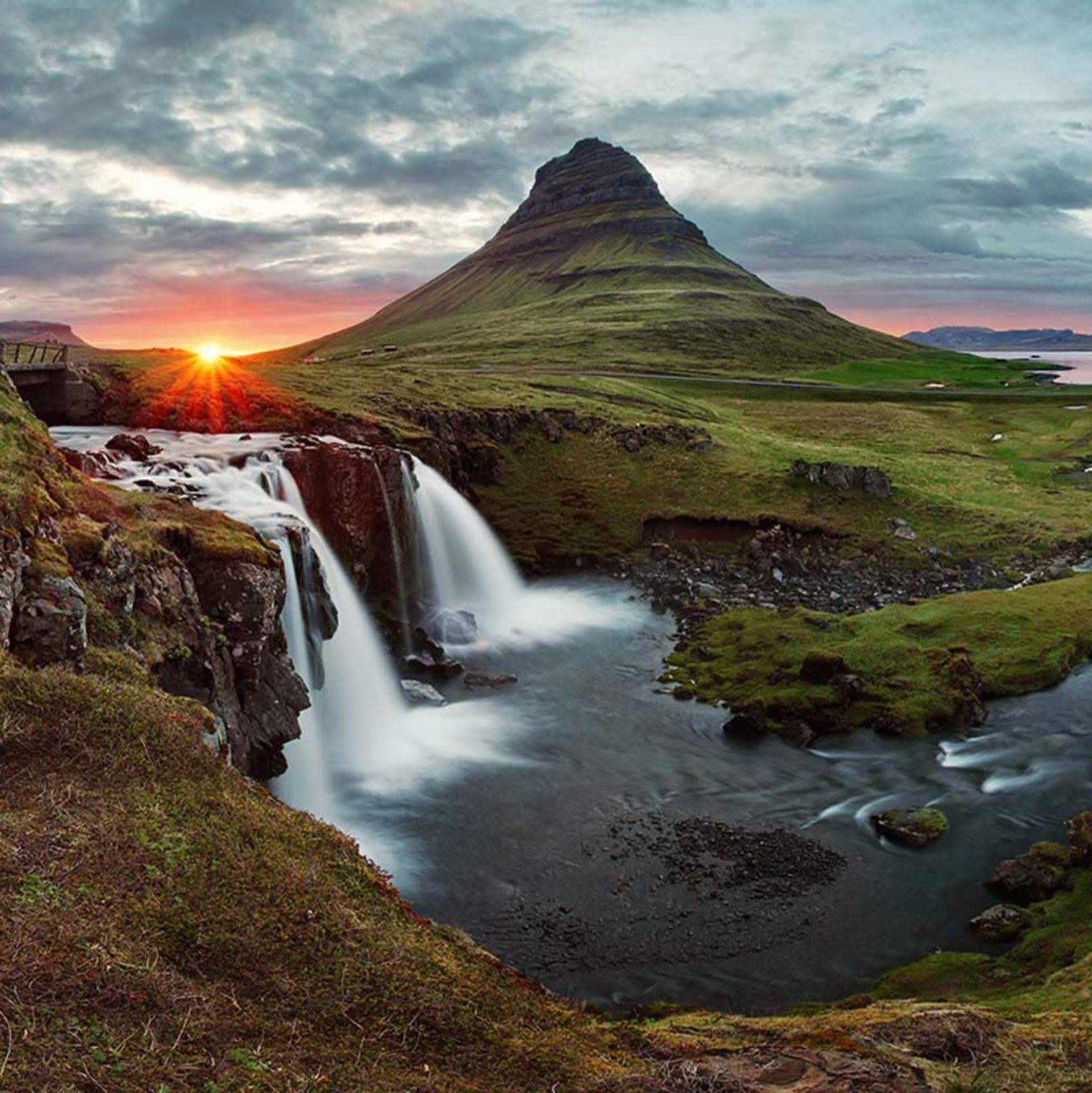 Eine Landschaft in Island