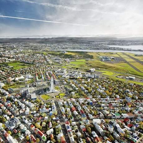 Reykjavik im Sommer, Island