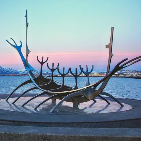 Skulptur der Sonnenfahrt in Reykjavik