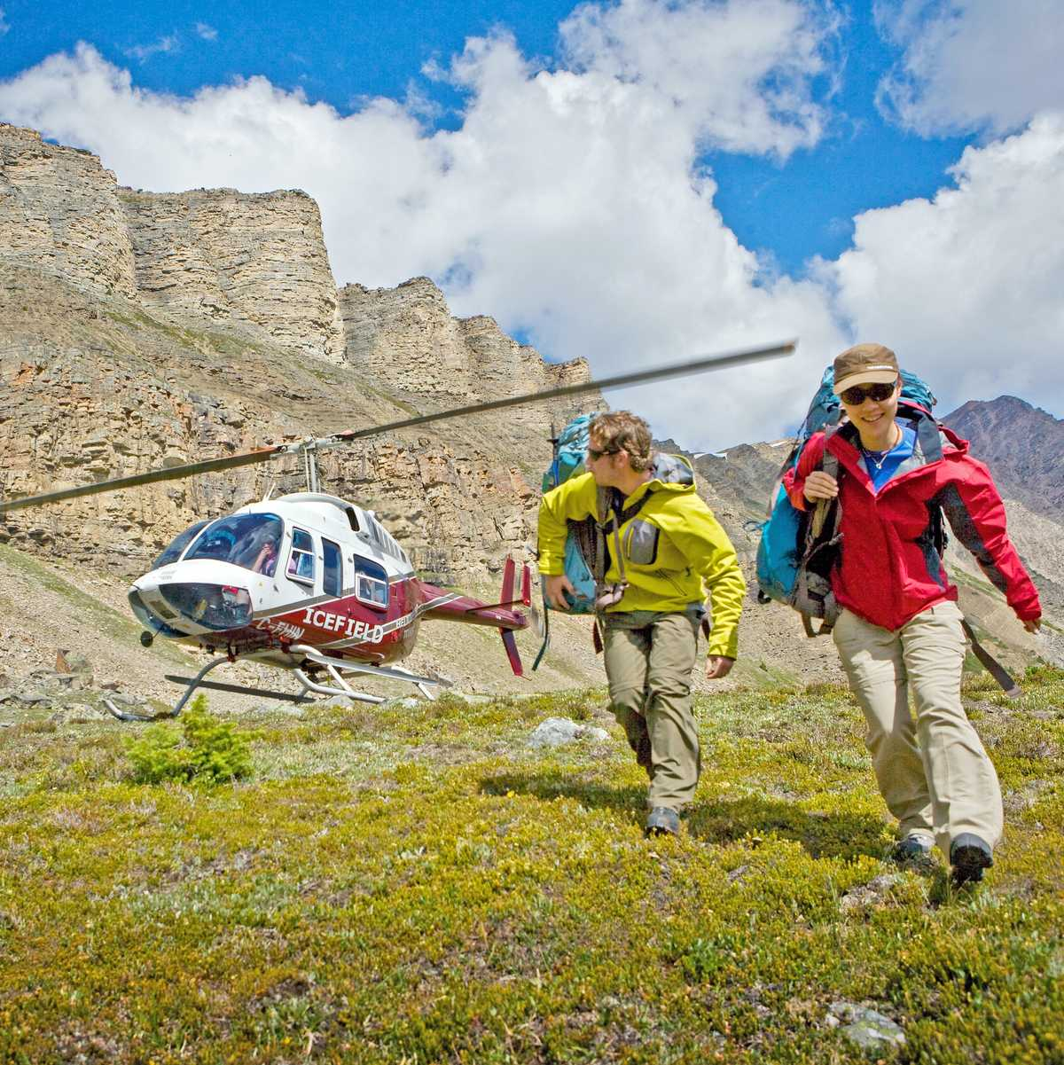Heli-Wandern in den Rockies