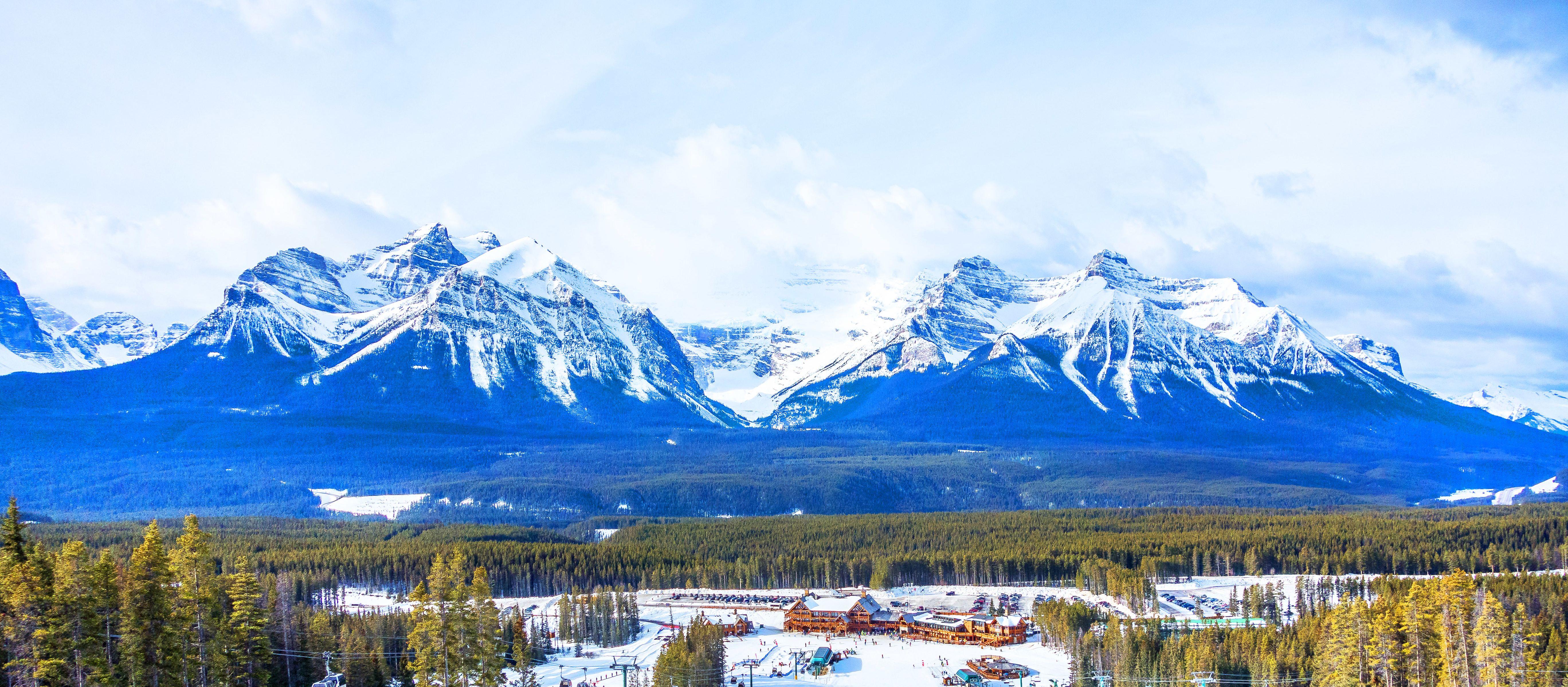 Piste im Lake-Louise Skigebiet in Alberta