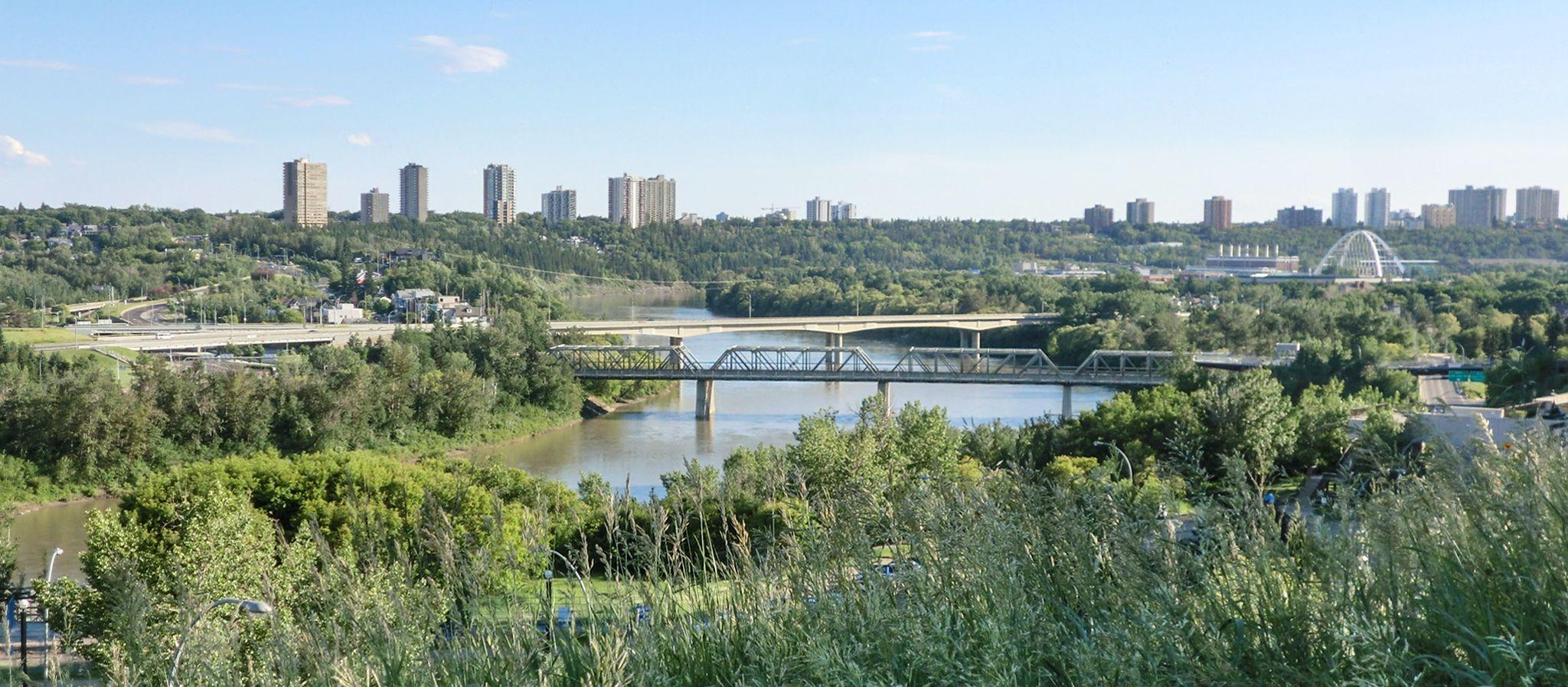 Blick auf Edmonton