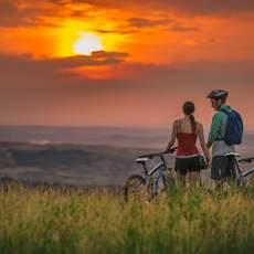 Sonnenuntergang im Cypress Hills Interprovincial Park