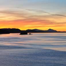 Sonnenuntergang bei Vancouver Island