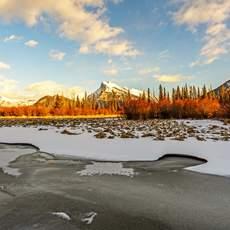 Abendstimmung Vermilion Lakes Alberta