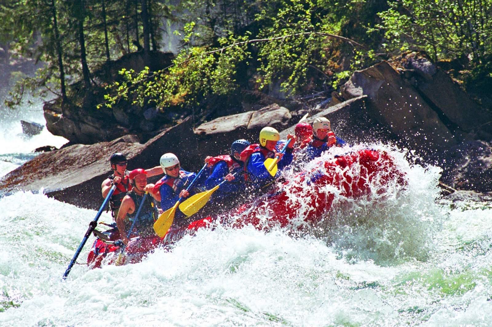 Wildwasser-Rafting im Jasper National Park