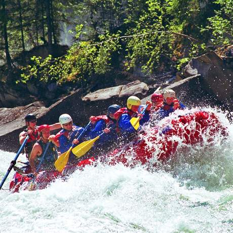 Wildwasser-Rafting im Jasper National Park
