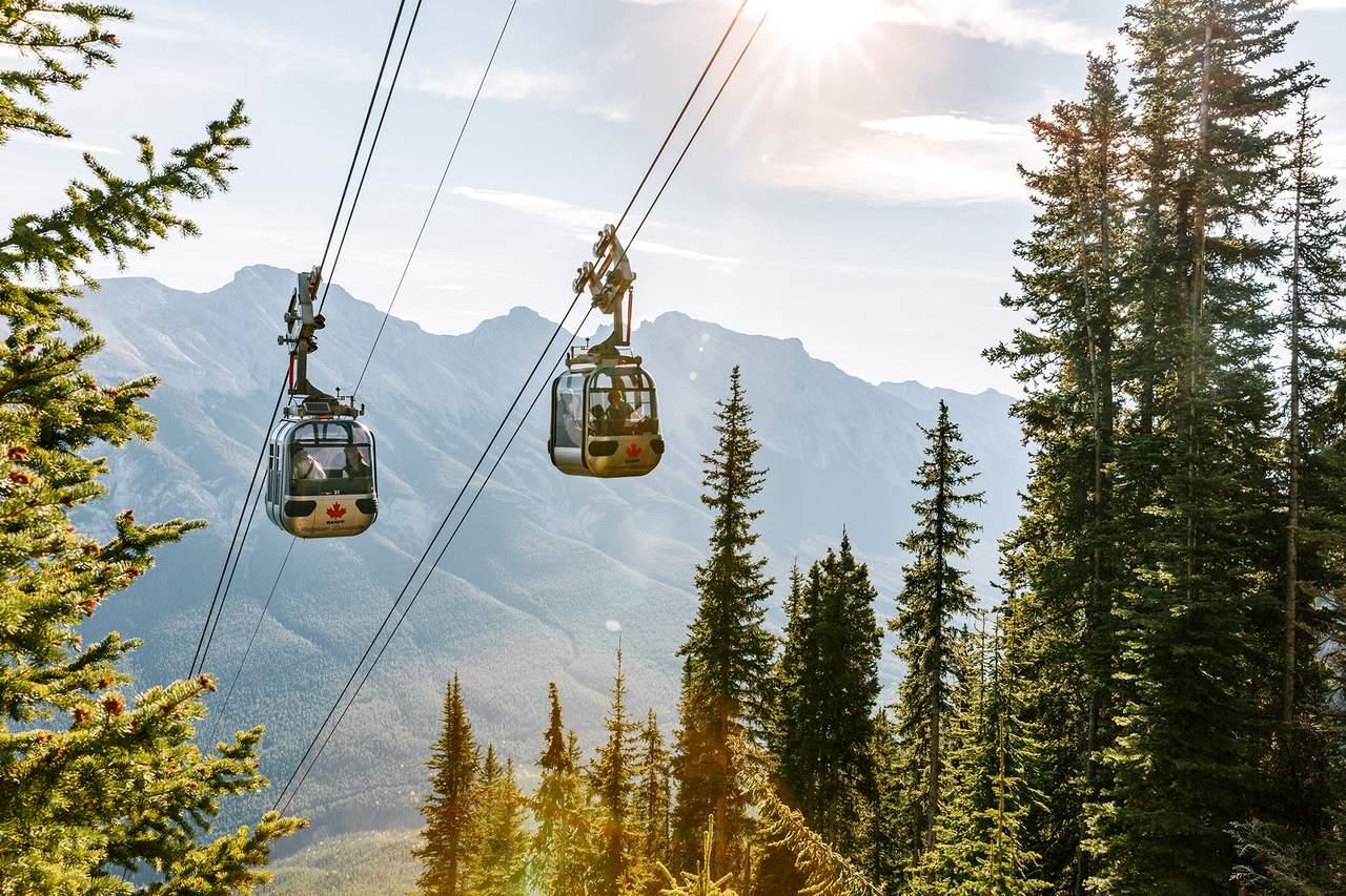 Gondeln der Banff Gondola, Alberta