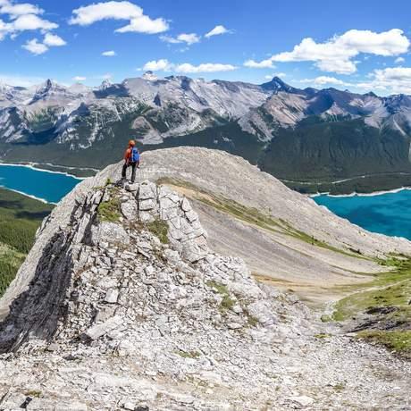 Aussicht vom Mount Nestor im Banff Nationalpark
