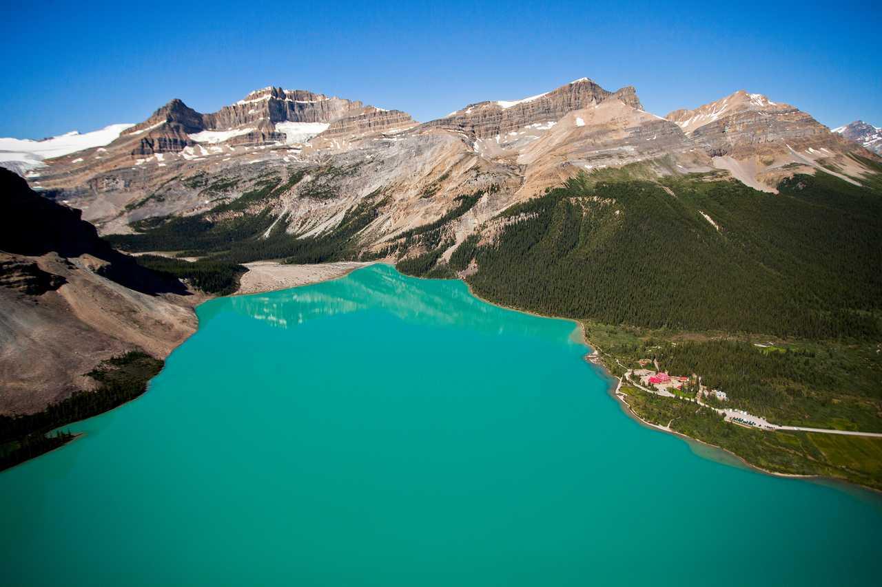 Der Bow Lake in Alberta