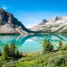 Bow Lake Panorama im Banff National Park, Alberta