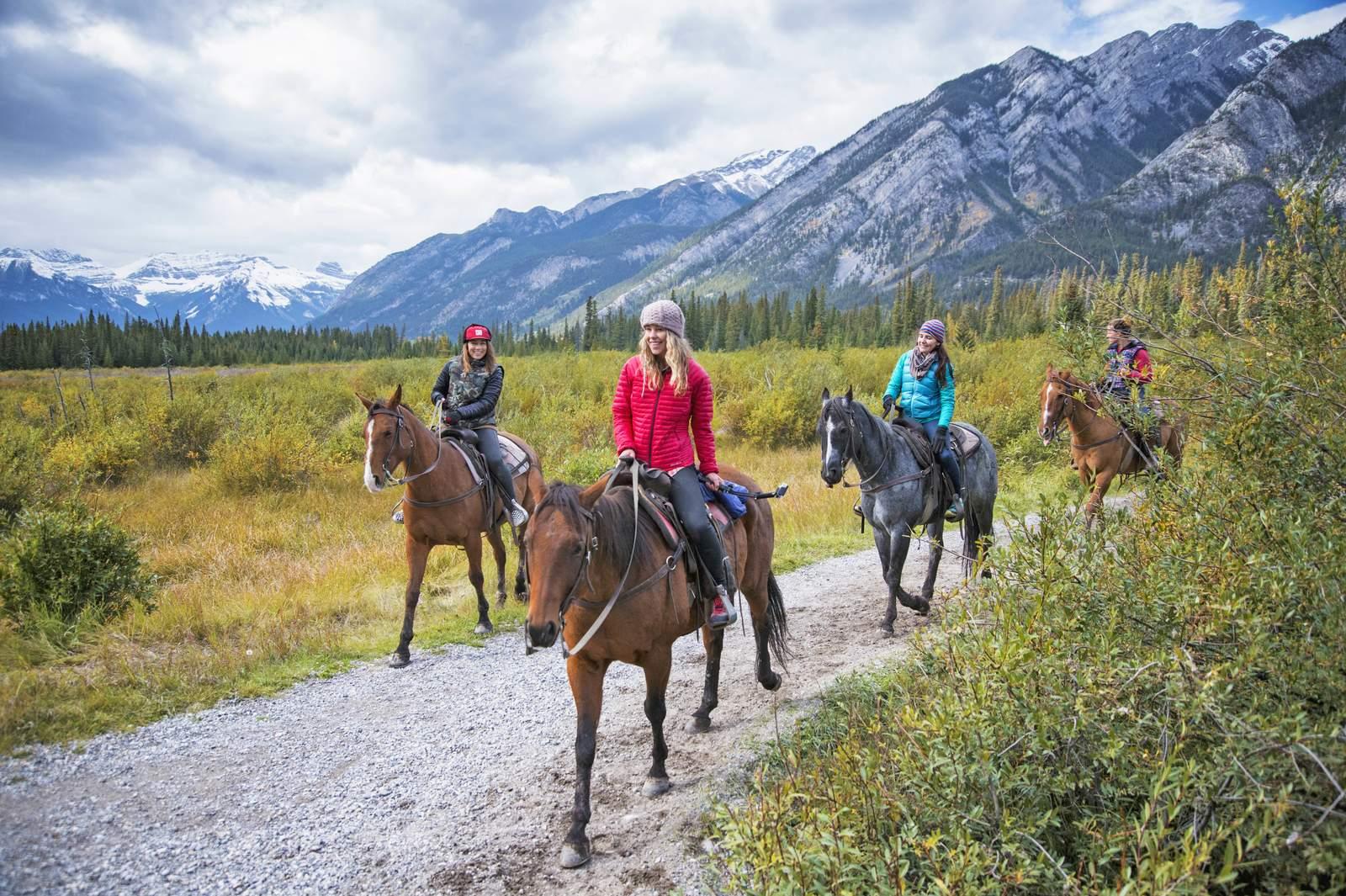 Reiten im Banff National Park, Alberta