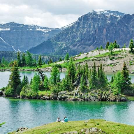 Wanderer in den Sunshine Meadows im Banff National Park, Alberta