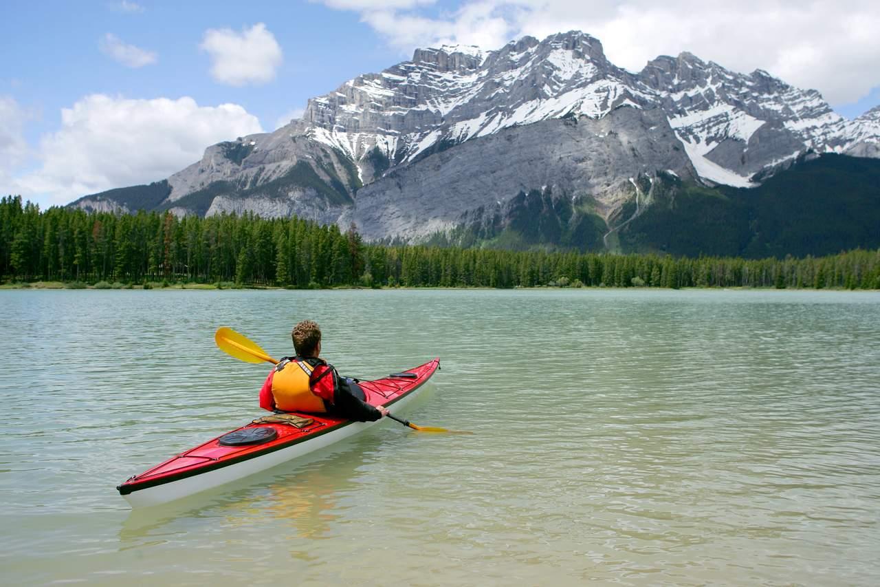 Kajak fahren im Banff National Park