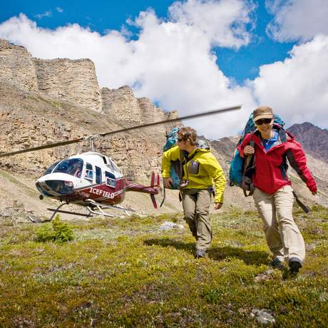 Heli hiking in Banff National Park, Alberta