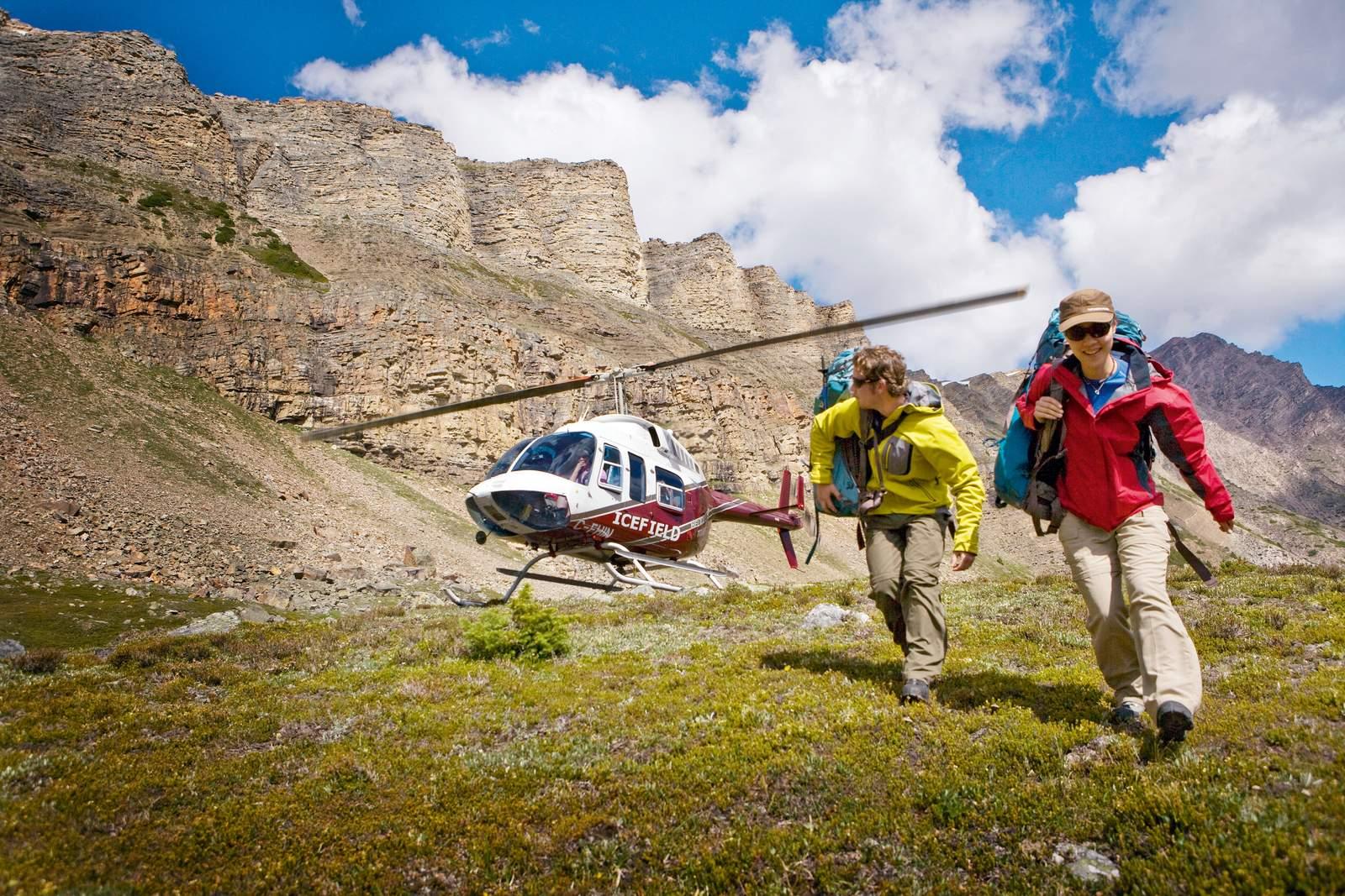 Heli hiking in Banff National Park, Alberta