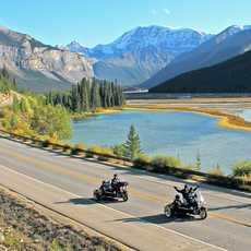 Bikes auf dem Columbia Icefield Parkway