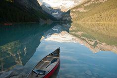 Kanu fahren auf dem Lake Louise