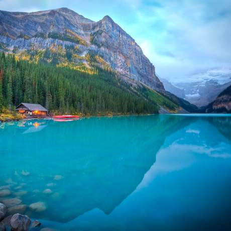 Banff National Park, Lake Louise, Boathouse