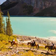 Reiten am Lake Louise