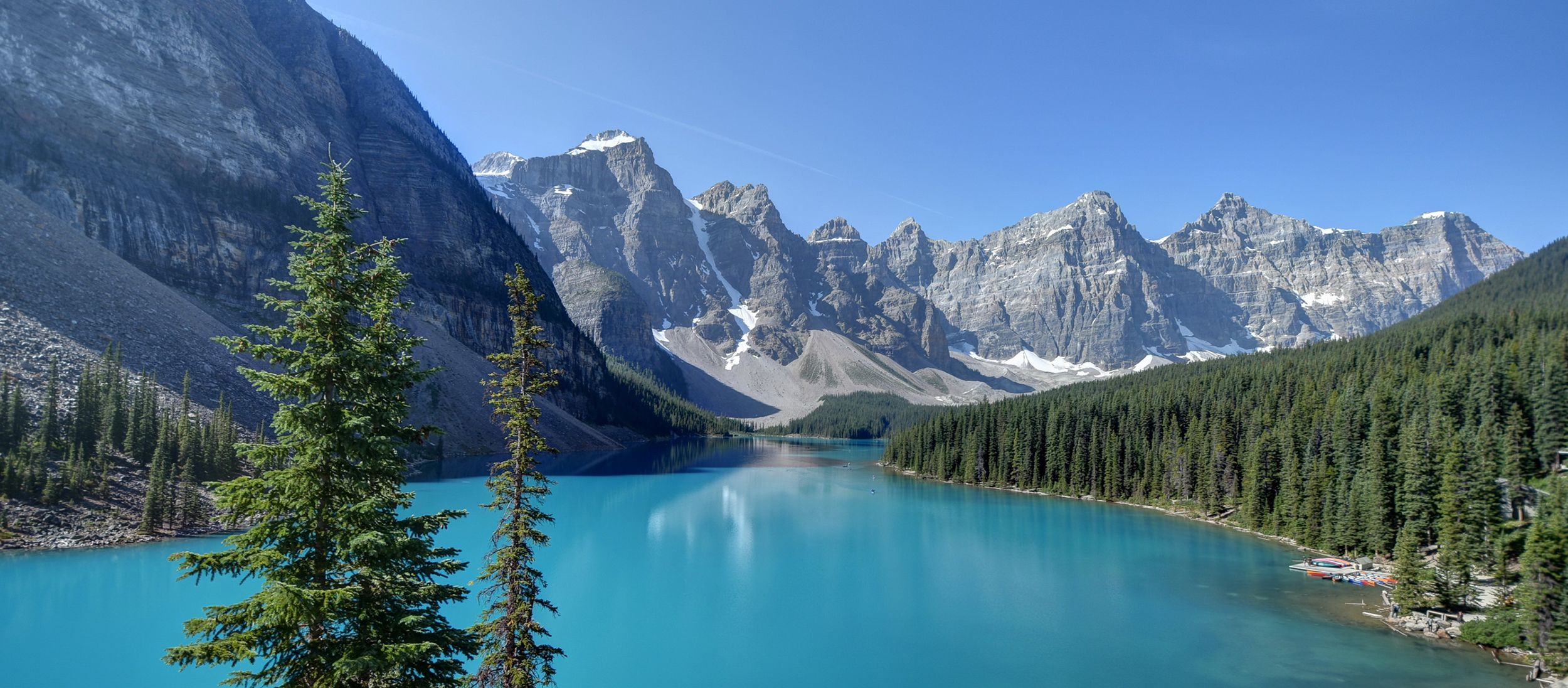 Der Moraine Lake im Banff Nationalpark in Alberta, Kanada