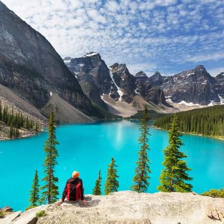 Moraine Lake im Banff-National-Park in Alberta, Kanada