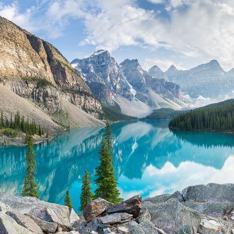 Spiegelung auf dem Moraine Lake