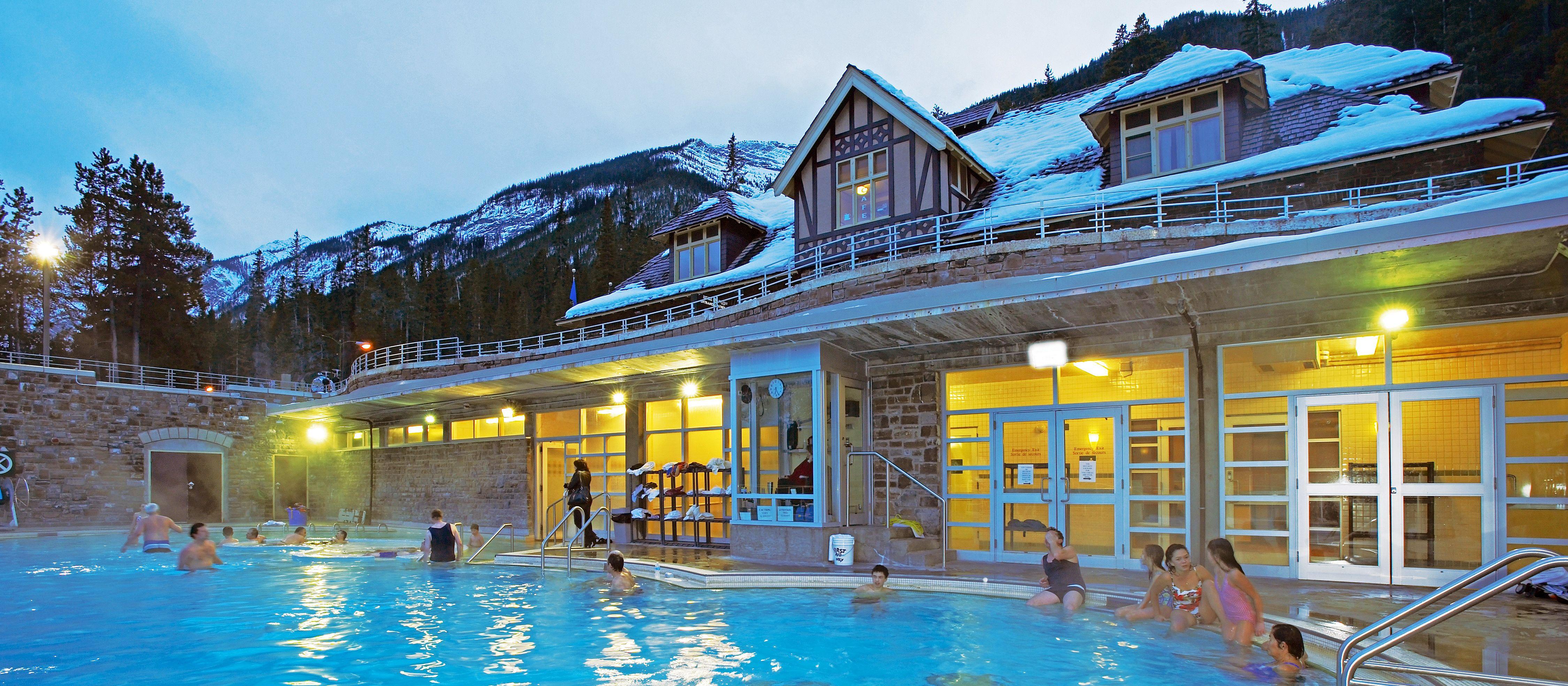 Die Upper Hot Springs in Banff