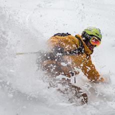 Skifahrer im Sunshine Village