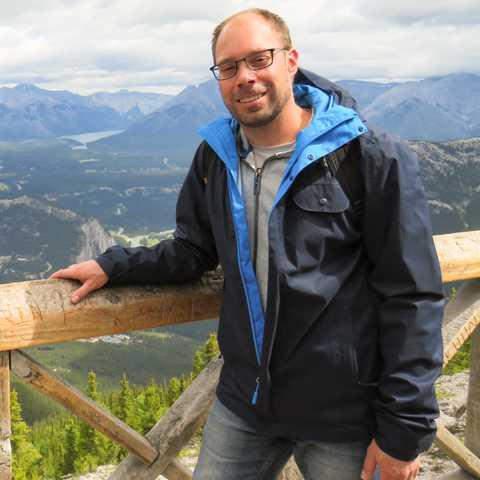 CANUSA Mitarbeiter Torben Kaufmann in Banff
