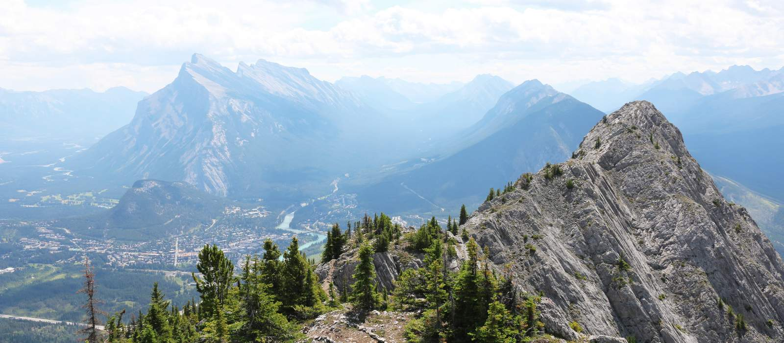 Via Ferrata Banff Ausblick