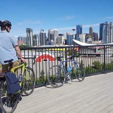 Fahrradtour durch Calgary