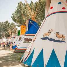 Tipis der First Nation während dem Calgary Stampede in Alberta